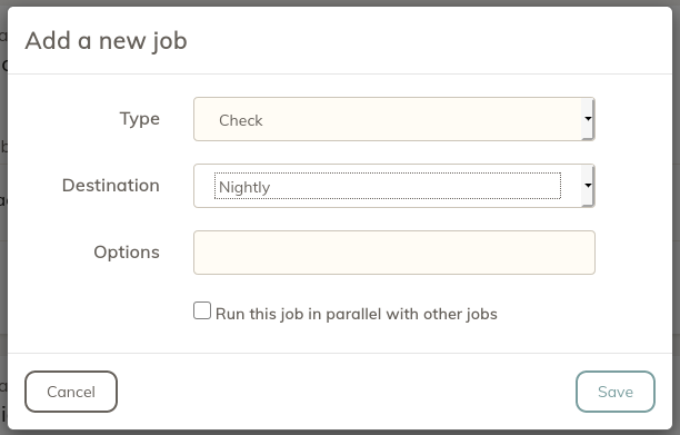 Add a new Check job in Duplicacy