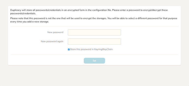 Duplicacy Web Password Entry